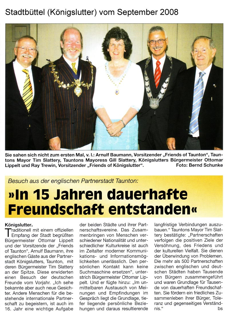1. Artikel Stadtbüttel September 2008